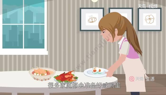 端午节吃咸鸭蛋的寓意 端午节吃咸鸭蛋的由来