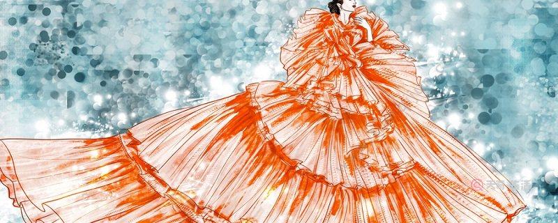 杏色长纱裙搭配