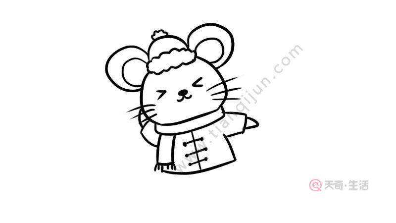 小老鼠放鞭炮简笔画