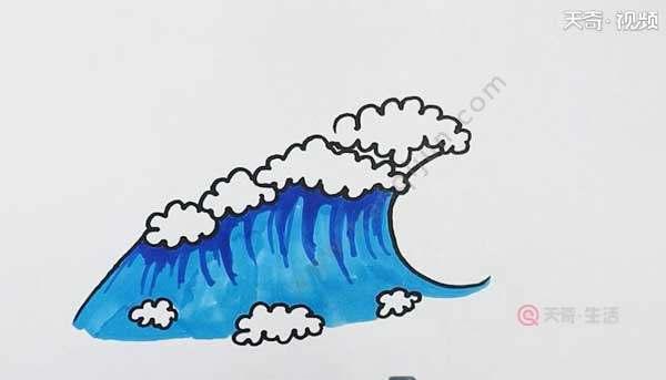 海浪简笔画