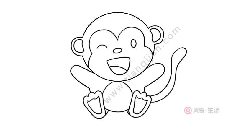小猴子简笔画画法