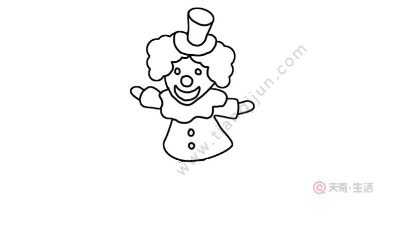 小丑简笔画步骤