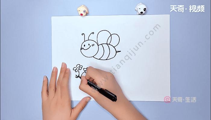 可爱蜜蜂简笔画 可爱蜜蜂简笔画画报