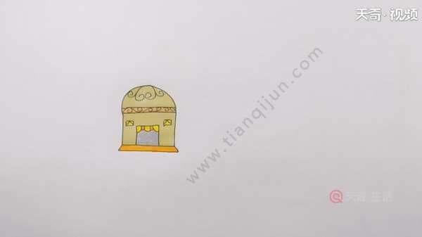 蒙古包简笔画