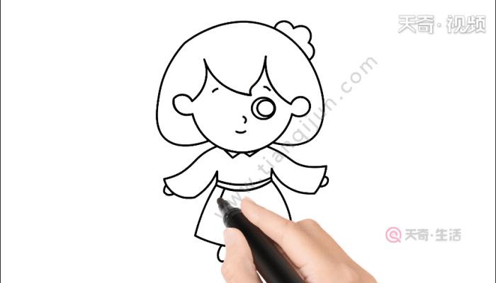 洋娃娃简笔画 洋娃娃简笔画怎么画