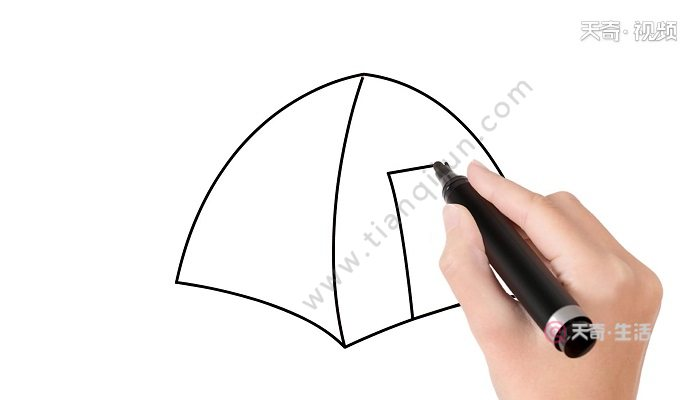 帐篷简笔画 帐篷简笔画怎么画