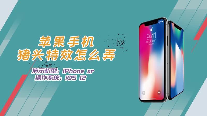 苹果手机猪头特效怎么弄 手机猪头特效在哪里