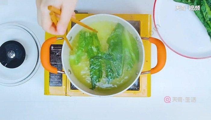 浇汁香菇油麦菜怎么做 浇汁香菇油麦菜的做法